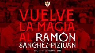 Imagen de la campaña de abonos del Sevilla.