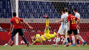Merino puts Spain ahead.