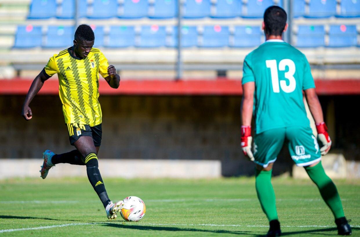 Obeng marcó el tanto del Oviedo en esta jugada