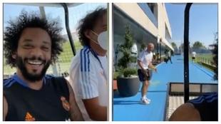 Da igual la época de la temporada que sea, Marcelo siempre se lo pasa bien