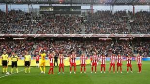 Atletico's players against Salzburg.
