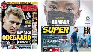 Las portadas del jueves: Caso Odegaard y Bordalás se queda solo en Valencia