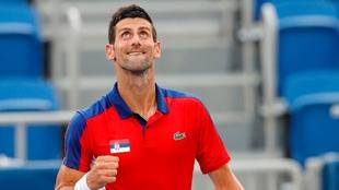 Novak Djokovic durante los Juegos Olímpicos de Tokio 2020