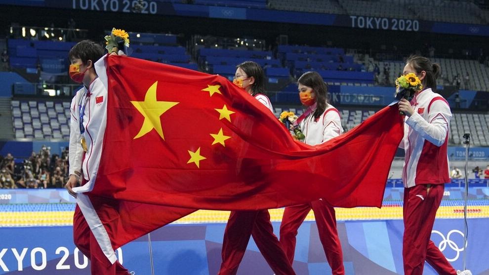 China's women's 4x200-meter freestyle relay team.