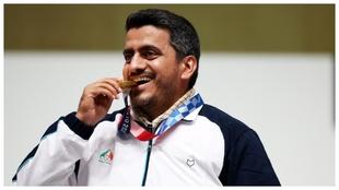 El medallista de oro Javad Foroughi.