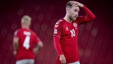 Eriksen, durante un partido con la selección danesa.