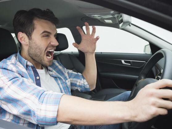 Un conductor enfurecido.