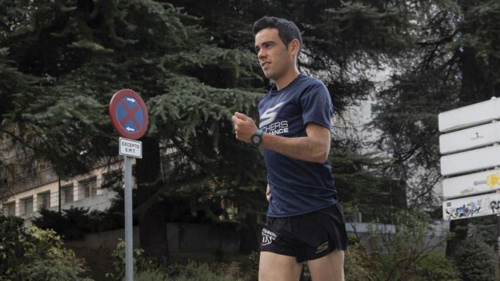 Diego García Carrera haciendo marcha