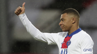 Mbappe during a match with PSG