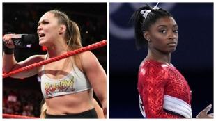 Ronda Rousey y Simone Biles.