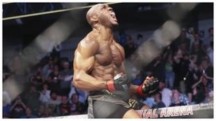 Usman en su segunda pelea contra Masvidal.