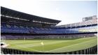 El Camp Nou, sin público en las gradas, durante el último clásico.