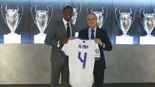 Presentación de Alaba con el Real Madrid.