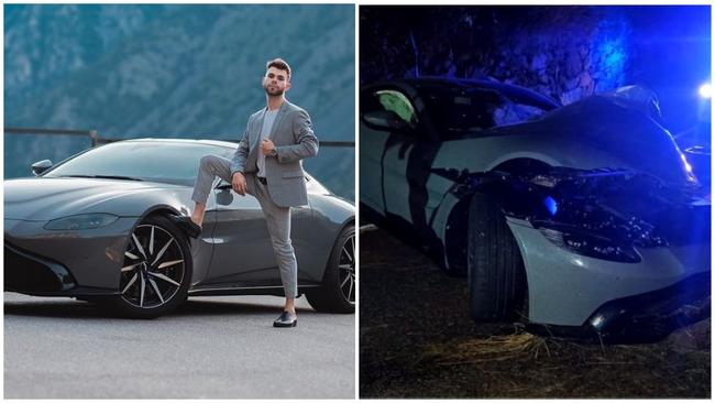 Salva - Aston Martin Vantage - Accidente - Youtuber