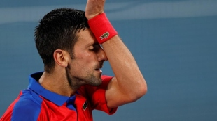 Novak Djokovic, durante el partido ante Zverev.