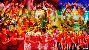 Montaje con varias imágenes de los equipos españoles