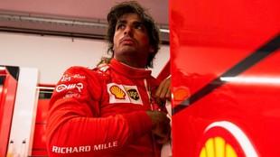 Carlos Sainz, durante la jornada de hoy en Hungaroring