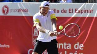 Hugo Grenier, en su partido ante Feliciano López