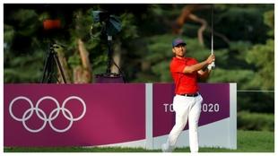 Xander Schauffele en la segunda ronda del torneo olímpico