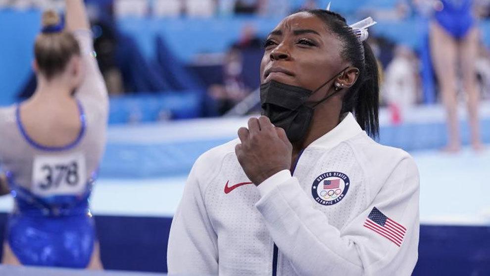 Simone Biles, en una imagen durante estos Juegos de Tokio