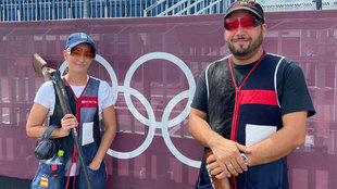 Fátima Gálvez y Alberto Fernández, antes de la prueba