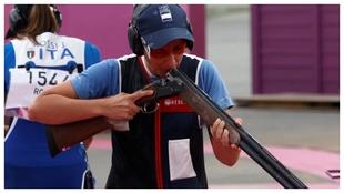 Fátima Gálvez, durante la prueba de foso olímpico.