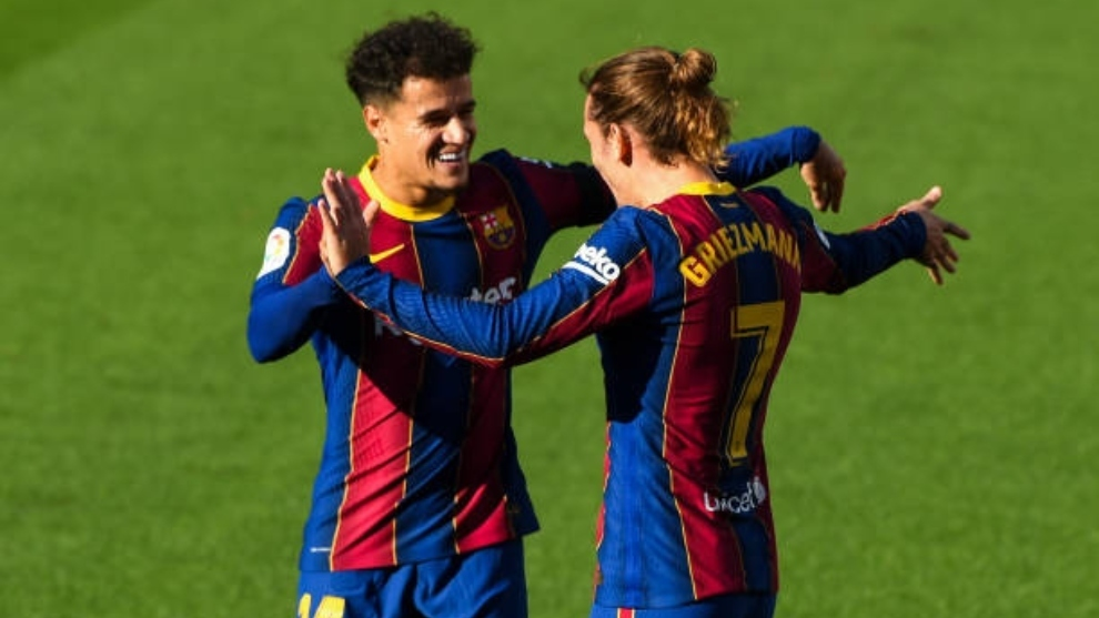 Griezmann y Coutinho apuntan a continuar en Can Barça.