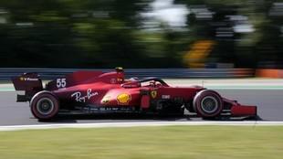 Sainz, en los Libres del Gran Premio de Hungría 2021.