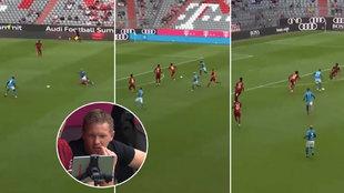 Así fueron los tres errores impropios del Bayern: la reacción de Nagelsmann...