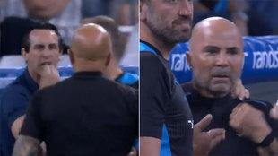 Expulsan a Emery, se encara con Sampaoli y le hace este gesto: ¿dice lo que creemos?