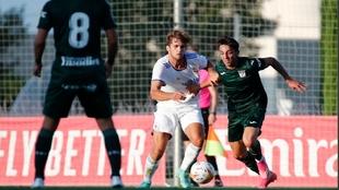 Lance del partido entre el Castilla y el Leganés en Valdebebas.