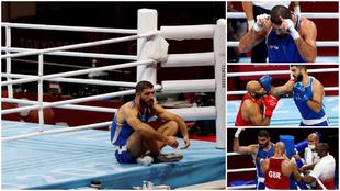 Mourad Aliev, antes y después del combate.