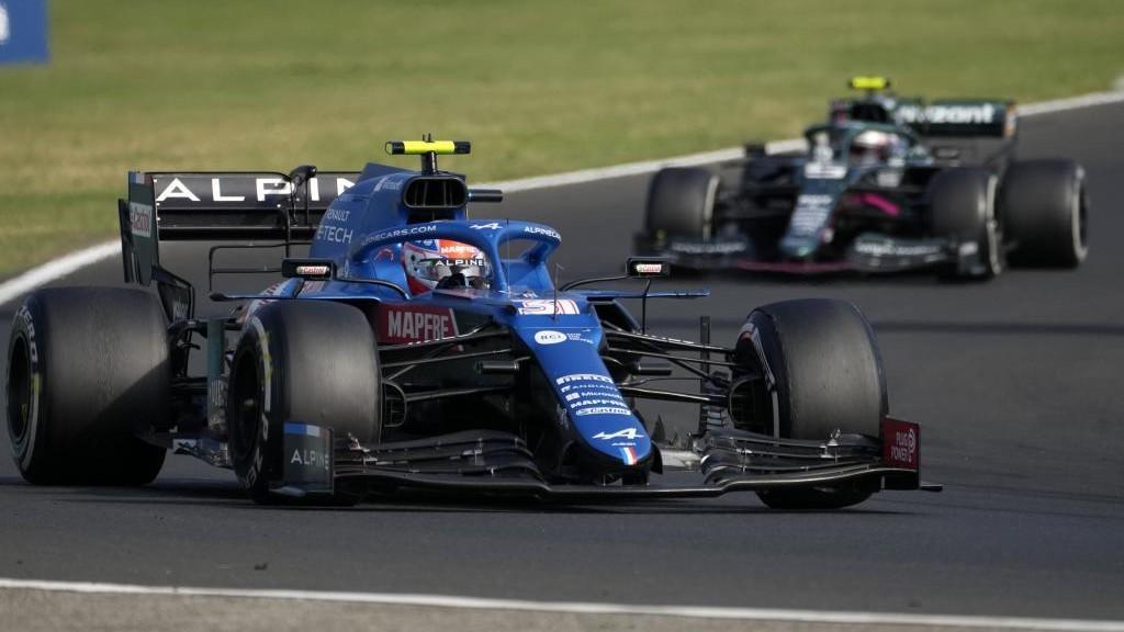 Ocoo, por delante de Vettel, los dos primeros en el GP de Hungría...