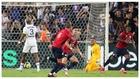 Xeka celebra el gol del Lille mientras Keylor se lamenta.