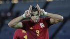 Rafa Mir celebra un gol ante Costa de Marfil.