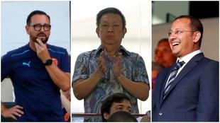 Bordalás, Peter Lim y Anil Murthy.
