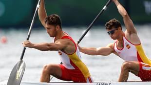 Tano García y Pablo Fernández durante la prueba