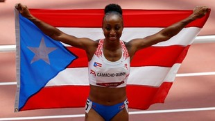 Jasmine Camacho-Quinn gana el oro en los 100 metros vallas tras haber impuesto el récord del mundo en las semifinales