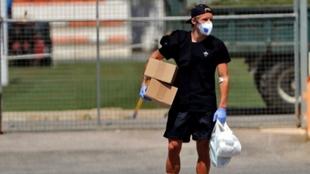 Daniel Wass, en la ciudad deportiva de Paterna, en una imagen de...