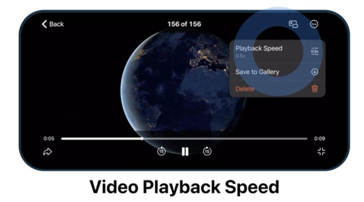 Tienes en tu mano la posibilidad de elegir la velocidad de reproducción del vídeo.
