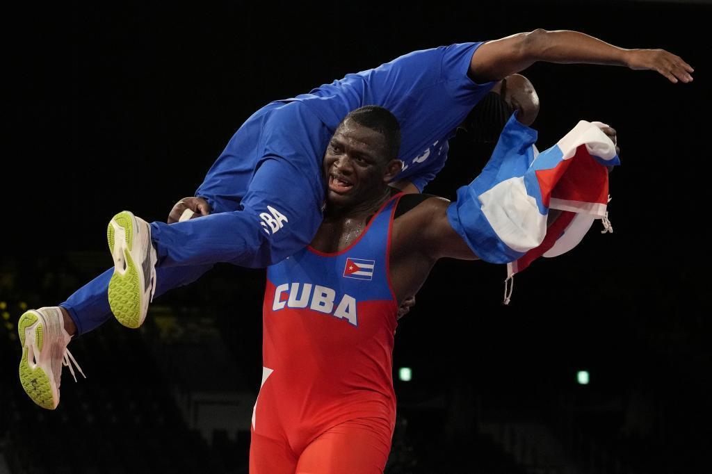 Mijaín López entró ayer en la historia del olimpismo.