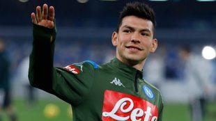 Lozano podría regresar con el Napoli en las próximas semanas.