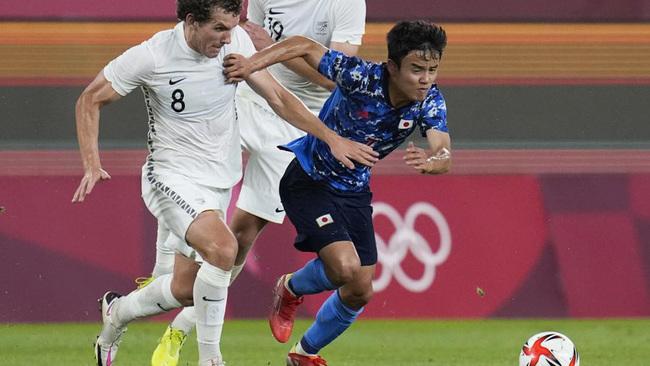 Kubo durante el partido ante Nueva Zelanda.