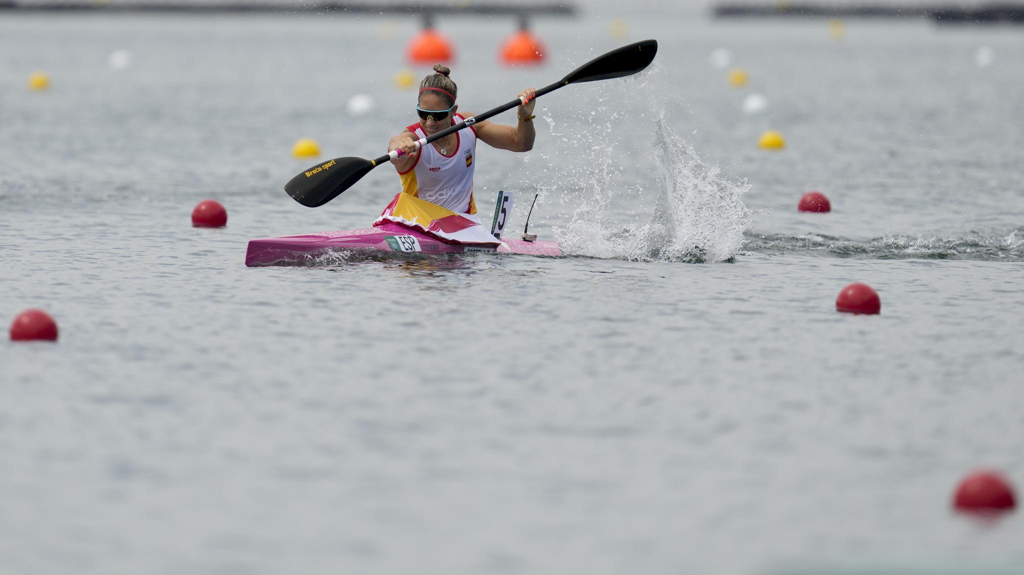 lt;HIT gt;Teresa lt;/HIT gt; lt;HIT gt;Portela lt;/HIT gt; of Spain competes in the women's kayak single 200m heat during the 2020 Summer Olympics, Monday, Aug. 2, 2021, in Tokyo, Japan. (AP Photo/Lee Jin-man)