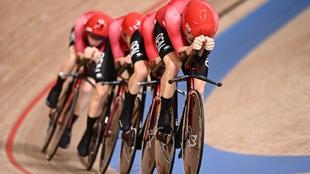 El equipo danés, en plena competición