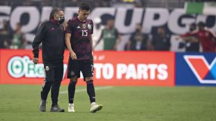 Moreno salió de cambio por lesión en la final de la Copa Oro.