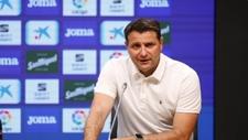 César Palacios, durante una rueda de prensa como director deportivo...