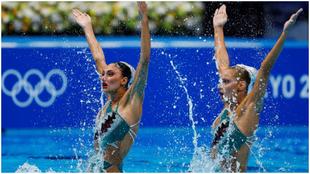 El dúo griego, durante su participación en la ronda de...