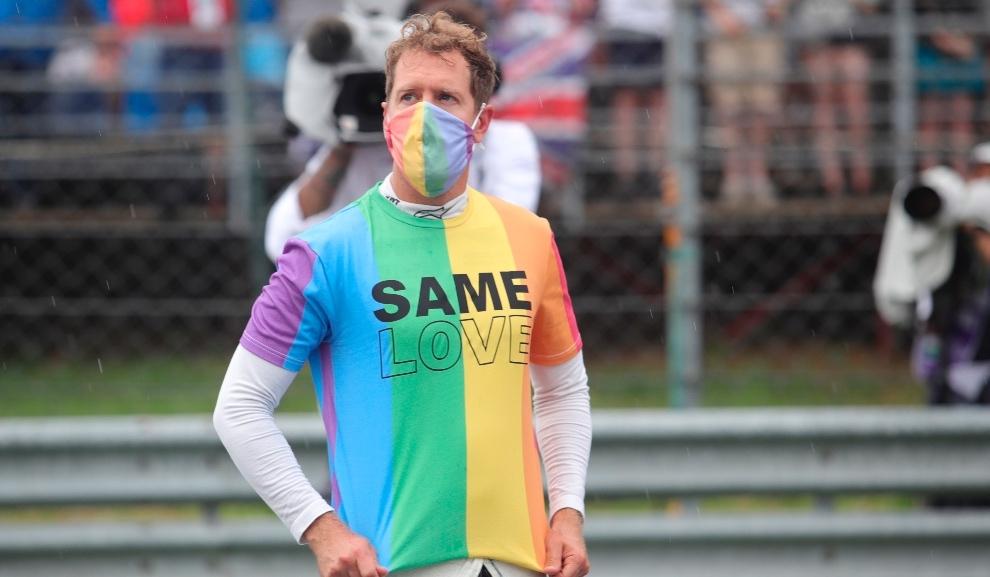 Sebastian Vettel previo a la carrera del Gran Premio de Hungría