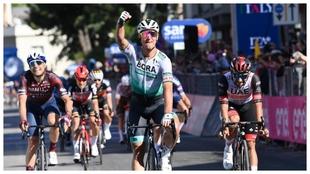 Peter Sagan cuando ganó la décima etapa del Giro este año.